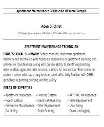 Sample Resume For A Construction Worker Building Maintenance Templates Builder Technician