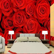 foto tapete 3d rote tapete schlafzimmer tv sofa hintergrund wand ehe zimmer tapete rote tapete wandbild