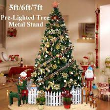 7ft Christmas Tree Pre Lit by Pre Lighted Christmas Trees Ebay