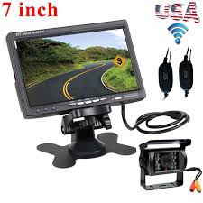 100 Truck Camera System Wireless IR Rear View Backup Night Vision 7 Monitor