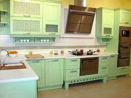Sage Green Kitchen Cabinets With White Appliances by Outstanding Green Kitchen Cabinets Sage Painted With Black