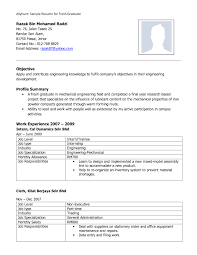 Resume Template Word For Fresh Graduate Refrence Singapore