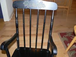 Vintage Wooden Children's Rocking Chair, Hand Painted Fruit ...