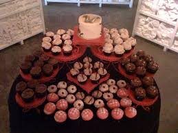 Wedding Cupcake Display From Thebleedingheartbakery