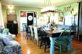 Shabby Chic Dining Room Chairs Farmhouse Table Lighting