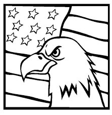American Flag Coloring Page Veterans Day Clipart