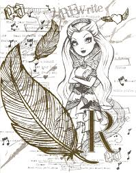 Coloring Pages Ever After High Thronecoming Color Page