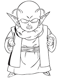 Dragon Ball Z Coloring Pages Dende