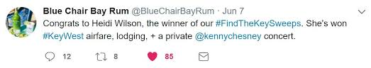 Blue Chair Bay Rum Kenny Chesney Contest by No Shoes Radio On Twitter