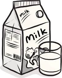 Milk clipart black and white 4