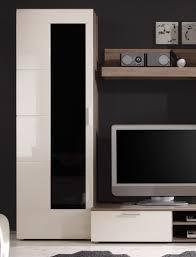 wohnwand shane 265x197x47cm magnolie hochglanz schrankwand wohnzimmer