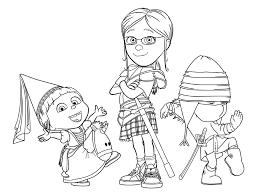 Despicable Me Coloring Pages The Girls