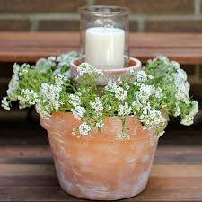 DIY Flower Pot Centerpiece These Would Be So Pretty At A Rustic Wedding Or Just