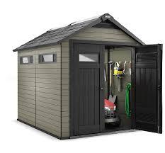 craftsman 7 5 x 9 wood plastic composite storage building 410
