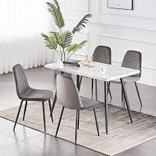 greneric 2er set esszimmerstühle wohnzimmerstuhl sessel mit rückenlehne sessel stuhl scandinavian vintage künstlich aus samt mit stahlbeinen in