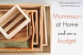 Montessori at Home and on a Bud Trillium Montessori