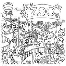 Top 25 Free Printable Zoo Coloring Pages line