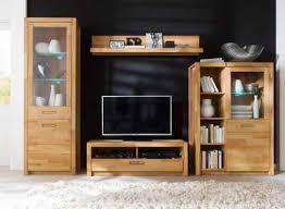 mca living wohnwand fenja set 4 tlg mit softclose funktion und aus massivholz inkl beleuchtung