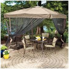 160 wilson fisher offset 8 5 square umbrella with netting