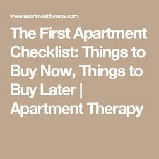 The 25 Best First Apartment Checklist Ideas On Pinterest