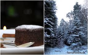 weihnachtliche gewürz schokoküchlein mit flüssigem kern
