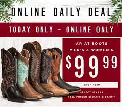 Cavender's : Cyber Week | $99.99 Ariat Boots + $40 Off ... 2019 Store Coupon Code Mistic E Cigs Promo Stepheons Flowers Team Combat Live Coupons Cavenders New Coupons Email Text Sign Up Score Big With This Coupon Today Only Milled More From Salsation Fitness On Instagram Prestashop 16 Discount The Running Well Promo Codes Fast Food Places With Student Discounts Cheapoair Hotel Thomann Sea Life Kc Sacred Arrow Minideal