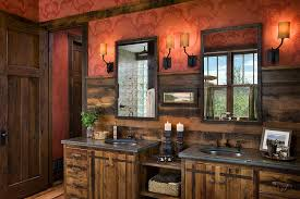 Image Of Small Rustic Bathroom Double Vanity