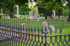 Halloween Cemetery Fence Finials by Fence The Big Séance