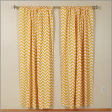 Yellow And White Chevron Curtains by Yellow And White Chevron Blackout Curtains Backyard Curtain