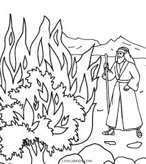 Printable Moses Coloring Pages For Kids Cool2bkids Throughout And The Burning Bush Regarding