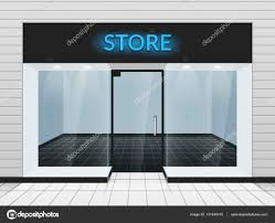 Shop Front Or Store View Vector Illustration Template Of Design Fashion Facade By MSSA