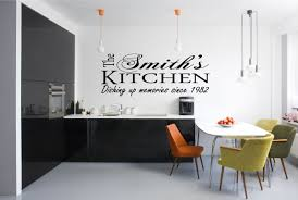 Personalised Kitchen Vinyl Art Wall Stickers Quotes Decals For Decoration Ideas