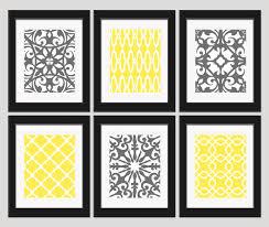 Yellow And Gray Bathroom Wall Art by Innovative Decoration Yellow And Grey Wall Decor Strikingly Idea