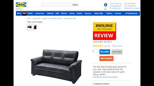 Ikea Tidafors Sofa Grey by Knislinge Idhult Black 3 Seater Ikea Sofa Review Youtube