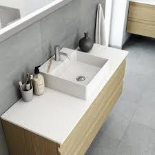 dansani marcato waschtisch und tischplatte aus solidsurface zentriert 60 100cm