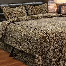 Leopard Print Bedroom Decor by Home Leopard Print Velveteen Coverlet Set Bedding Steel Bathroom