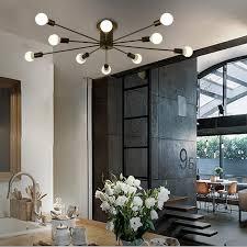 kreative schwarz weiß 10 köpfe deckenleuchte bar wohnzimmer mode persönlichkeit schlafzimmer sterne deckenleuchte moderne einfachheit