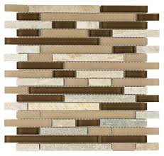 slate glass mosaic tile linear cappuccino mineral tiles