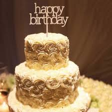 Image Is Loading Rustic Wooden Happy Birthday Letters Cake Topper Food
