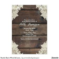 Elegant Rustic Wedding Invitations Or Barn Wood Lace Romantic Card 61