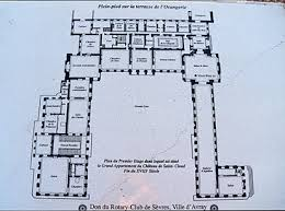 Chateau Floor Plans Plan Of The Ground Floor Of The Château De Cloud
