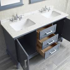 60 Inch Bathroom Vanity Single Sink by Ace 60 Inch Double Sink Whale Grey Bathroom Vanity Set With Mirror