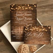 Rustic Stringlight Snowflake Winter Wedding Invitation EWI410 2