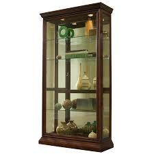 Pulaski Oak Corner Curio Cabinet by Amazon Com Pulaski Two Way Sliding Door Curio 43 By 16 By 80