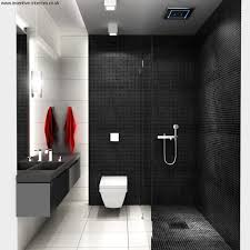 Paint Color For Bathroom With White Tile by Stunning Bathroom Idea With Black Wall Paint Color And Black