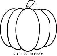 Pumpkin isolated Clip Artby Blackspring13 990 Black and White Pumpkin Cartoon Illustration