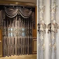 luxury velvet fabric bedroom curtain of victorian curtain in gray