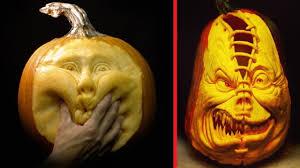Best Pumpkin Carving Ideas Ever by Creative Pumpkin Carving Crazy Ideas Halloween Youtube