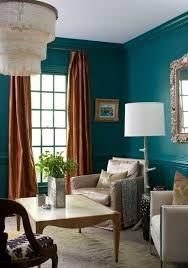 wandfarbe benzin wohnzimmer vorhänge orange töne wandspiegel