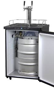 Perlick Beer Faucet Uk by Amazon Com Kegco Dual Tap Freestanding Beer Dispenser Appliances